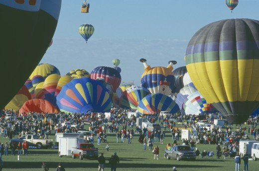 Stock Photo: 1850-8969 Usa, New Mexico, Albuquerque, Balloon Fiesta