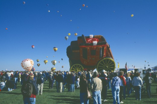 Stock Photo: 1850-8989 Usa, New Mexico, Albuquerque, Balloon Fiesta