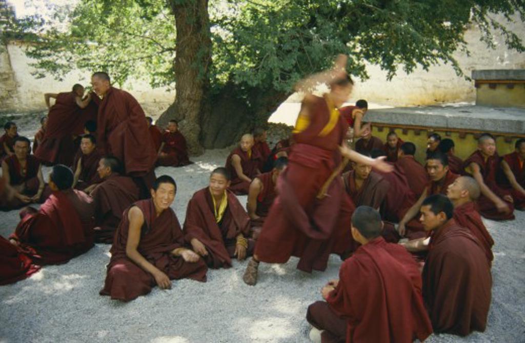 Stock Photo: 1850-945 Tibet, Sera Monastery, Monks Debating