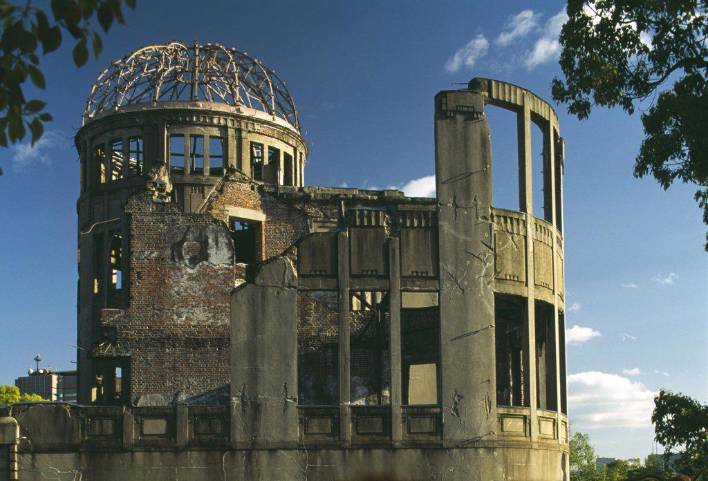 Japan, Honshu, Hiroshima, View Of The A Bomb Dome : Stock Photo