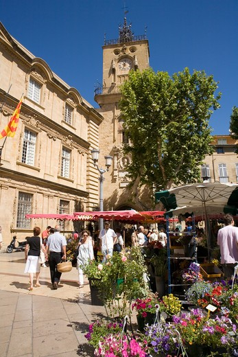 Stock Photo: 1851-5895 Hotel de Ville at Aix Provence South France