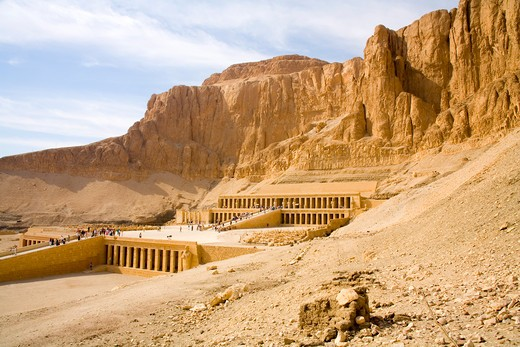 Hatshepsut s Temple of Deir Al Bahari on the West Bank at Luxor in Egypt : Stock Photo