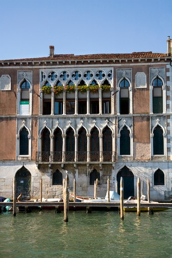 Stock Photo: 1851-6561 House on the Grand Canal in Venice