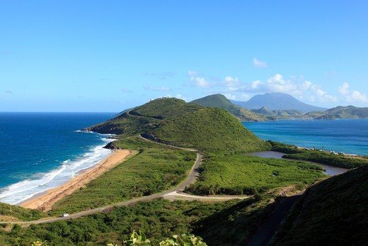 Stock Photo: 1851-7287 Saint Kitts new part of the island that is being developed.