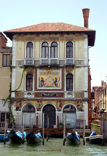 Beautifully decorated Building on the Grand Canal in Venice Italy : Stock Photo