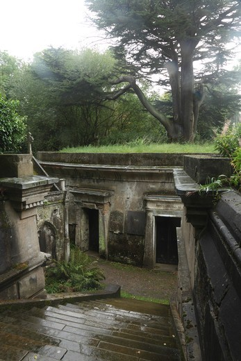 Stock Photo: 1851-7395 'Circle of Lebanon Vaults' at the Highgate Cemetery West in London England