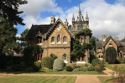 Stock Photo: 1851-7409 Holly Village Victorian Gothic houses at  Highgate London England
