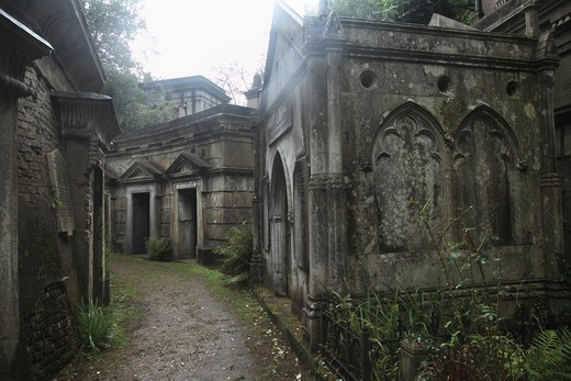 Stock Photo: 1851-7416 'Circle of Lebanon Vaults' at the Highgate Cemetery West in London England