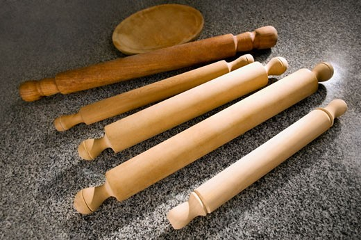 Stock Photo: 1884-61805 Rolling pins on the kitchen counter