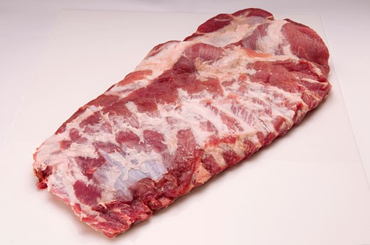 Stock Photo: 1884-63451 Close-up of rack of rib