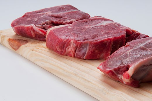 Close-up of rump steaks : Stock Photo