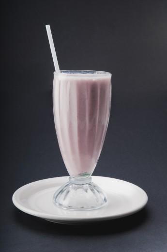Stock Photo: 1884-65643 Close-up of a strawberry milkshake
