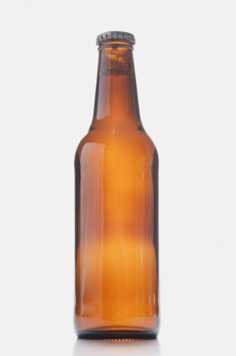 Close-up of a beer bottle : Stock Photo