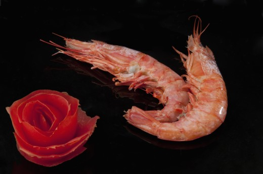 Stock Photo: 1884-66061 Close-up of prawns