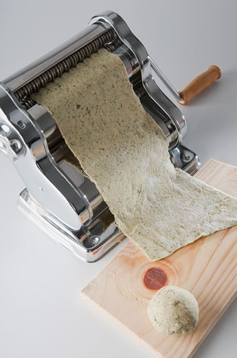 Stock Photo: 1884-66319 High angle view of a pasta maker