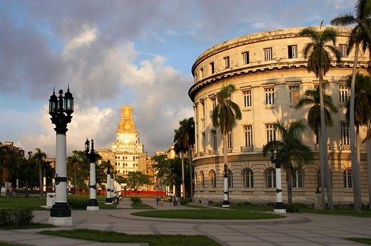 Stock Photo: 1885-10494 Caribbean, Cuba, Havana, The Capitol Building and telecommunication building in Parque Central