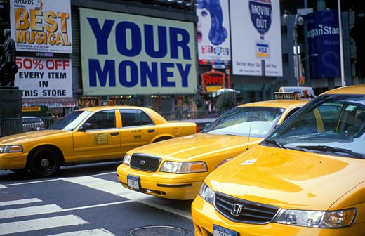 USA, New York State, New York, Taxis : Stock Photo