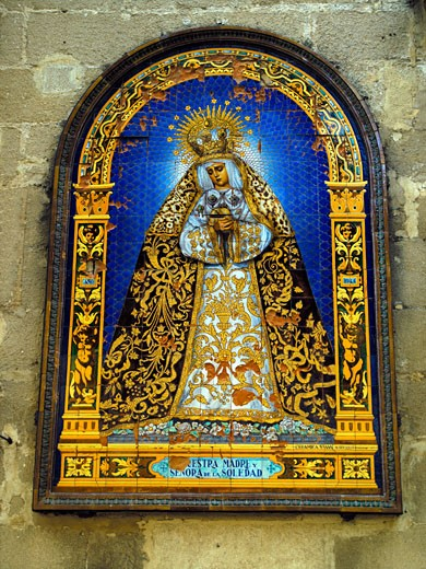 Stock Photo: 1885-11148 Spain, Andalucia, Jerez, Religious mosaic