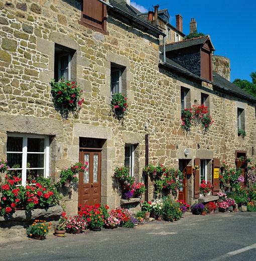 France, Brittany, Moncontour (Cotes D'armor), General : Stock Photo