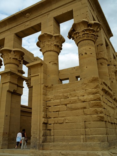 Stock Photo: 1885-12383 Egypt, , Aswan, Close up of the Kiosk of Trajan at the Temple of Isis at Philae
