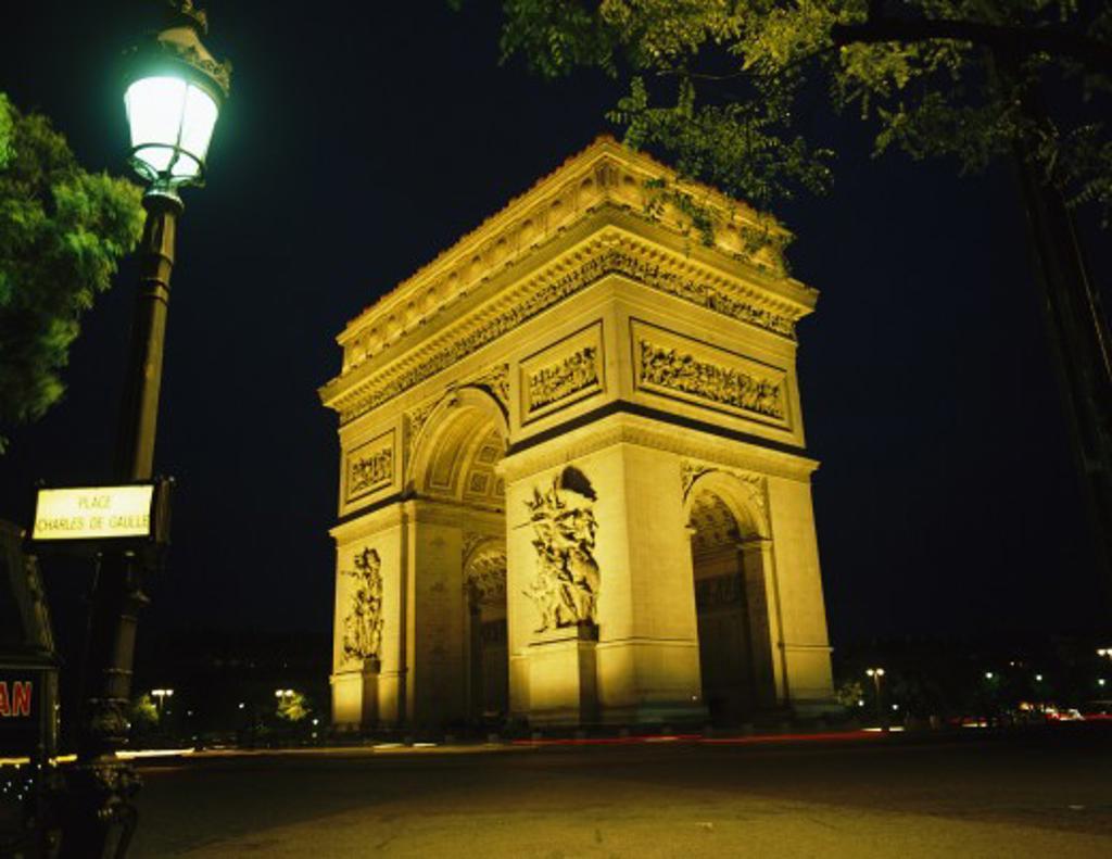 France, , Paris, Arc de Triomphe : Stock Photo