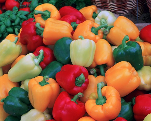 Food & Drink, , Peppers, Colourful peppers : Stock Photo