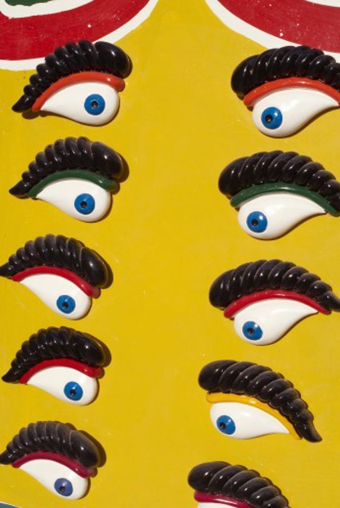 Stock Photo: 1885-13881 Maltese Islands, Malta, General, Detail of Eye of Osiris eyes - seen on traditional boats