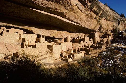 USA, Colorado, Mesa Verde National Park, View of the Cliff Palace : Stock Photo