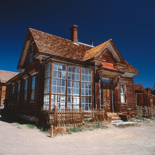 Stock Photo: 1885-14890 USA, California, Bodie, House in ghost town