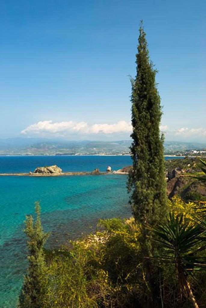 Cyprus, South, Latchi - near, View along Chrysochou Bay : Stock Photo