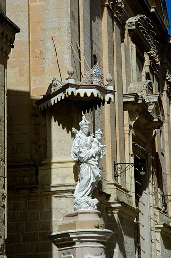 Maltese Islands, Malta, Mdina, Mdina street - statue : Stock Photo