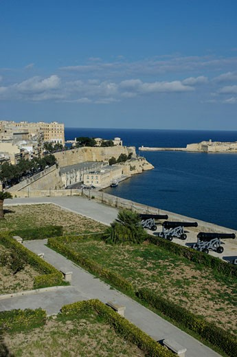 Maltese Islands, Malta, Valletta, View from Upper Barracca Gardens : Stock Photo