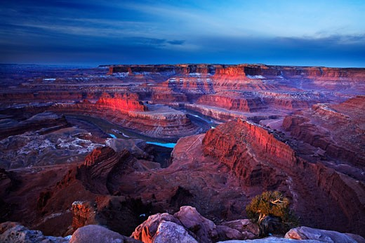 USA, Utah, Dead Horse Point State Park, Early morning at Dead Horse Point : Stock Photo