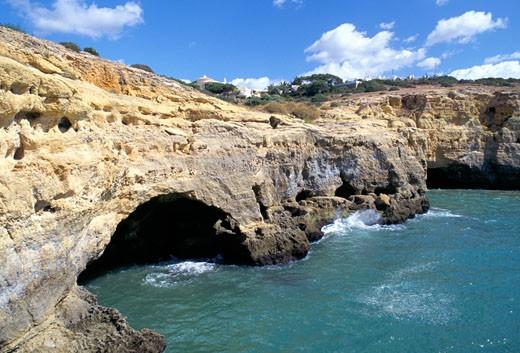 Stock Photo: 1885-1686 Portugal, Algarve, Algar Seco, Natural Caves