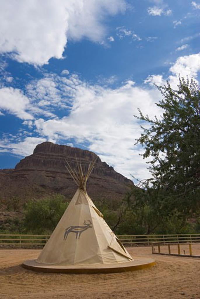 USA, Arizona, Grand Canyon, Tepee below Spirit Mountain : Stock Photo