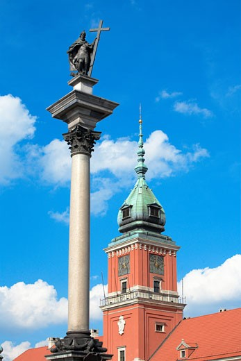 Stock Photo: 1885-17912 Poland, , Warsaw, Royal Castle and Zygmunt Column in the Old Town