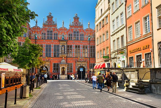 Poland, , Gdansk, Street scene in the Old Town : Stock Photo