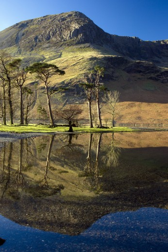 Stock Photo: 1885-19460 UK - England, Cumbria, Buttermere, Lake with reflections