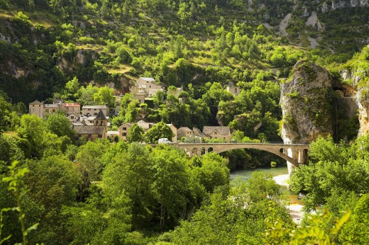 France, Languedoc-Roussillon, Cevennes National Park, Gorges du Tarn : Stock Photo