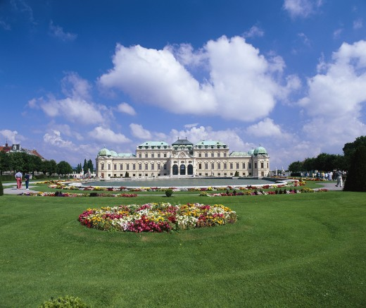 Austria, , Vienna, Schloss Belvedere  (exterior) : Stock Photo