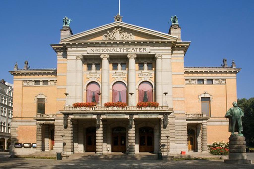 Norway, Oslo, National Theatre : Stock Photo