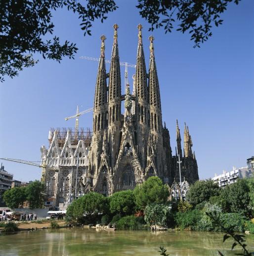 Stock Photo: 1885-2106 Spain, Catalunya, Barcelona, Sagrada Familia