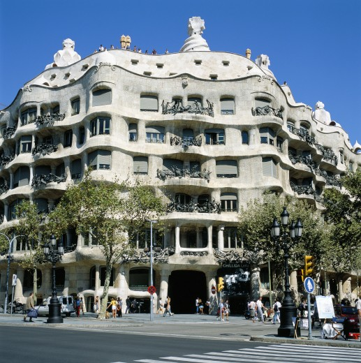 Stock Photo: 1885-2107 Spain, Catalunya, Barcelona, Casa Mila