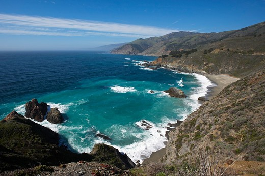 Stock Photo: 1885-21123 USA, California, Big Sur, View from Pacific Coast Highway