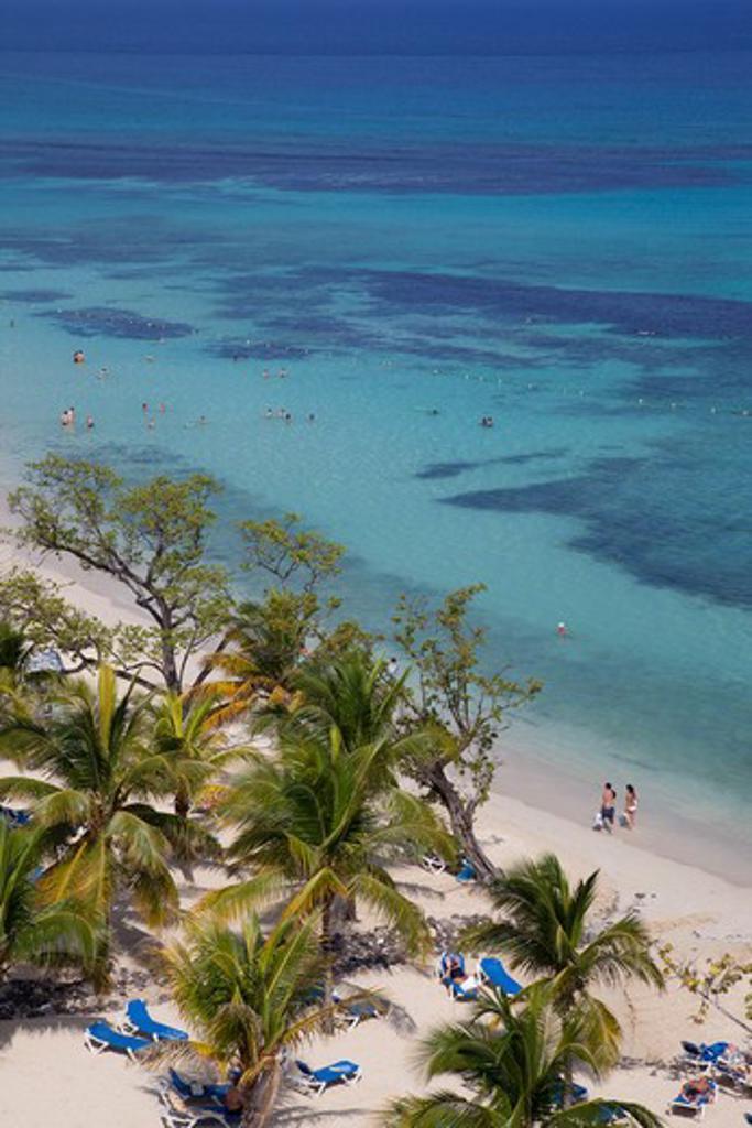 Caribbean, Jamaica, Ocho Rios, St Anns Bay and beach : Stock Photo