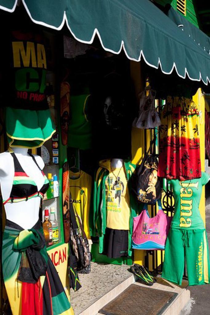 Caribbean, Jamaica, Ocho Rios, Souvenir shop : Stock Photo