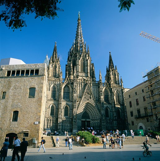 Stock Photo: 1885-2123 Spain, Catalunya, Barcelona, Gothic Cathedral