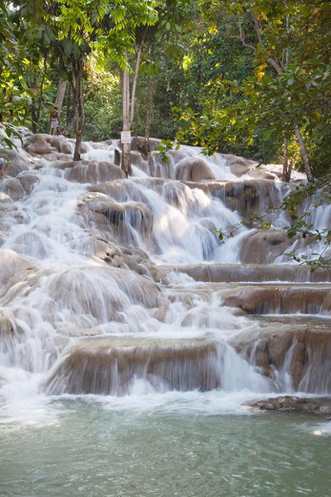Caribbean, Jamaica, Ocho Rios, Dunns River Falls : Stock Photo