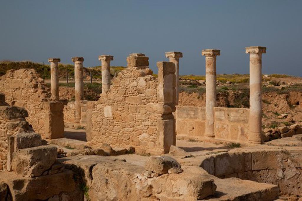 Stock Photo: 1885-21496 Cyprus, South Cyprus, Paphos, Roman Pillars