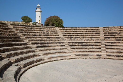 Stock Photo: 1885-21513 Cyprus, South Cyprus, Paphos, Odeon & Lighthouse